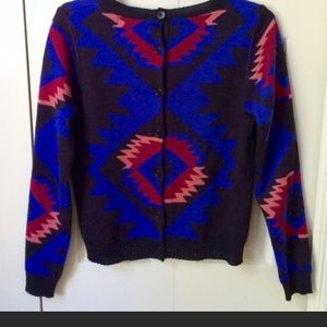 Aztec Print Crewneck Sweater Urban Outfitters